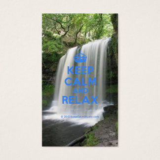 Keep Calm and Relax Business Card