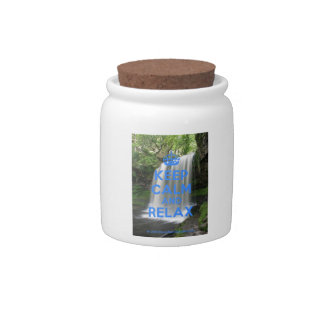 Keep Calm and Relax Candy Jar