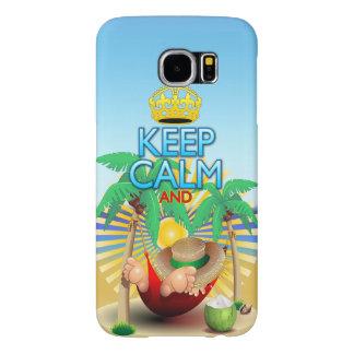 Keep Calm and Relax on Hammock! Samsung Galaxy S6 Samsung Galaxy S6 Case