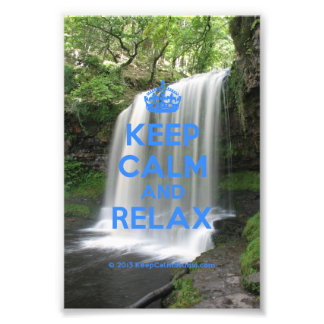 Keep Calm and Relax Photo Print