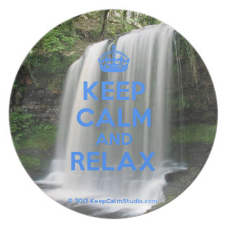 Keep Calm and Relax Party Plate