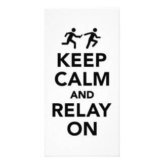 Keep calm and relay on card