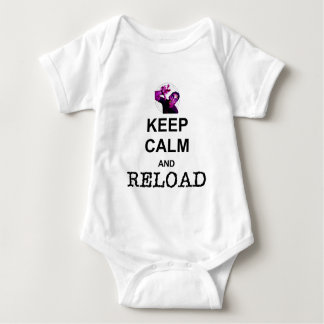 KEEP CALM AND RELOAD BABY BODYSUIT