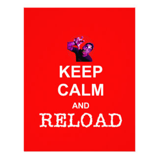 KEEP CALM and RELOAD Personalized Letterhead