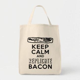 Keep Calm and Replicate Bacon Tote Bag