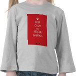 Keep Calm and Rescue Animals White Paw T-shirts