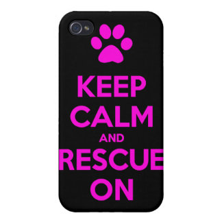 Keep Calm And Rescue On Animal Rescue iPhone 4 Cases