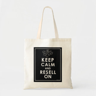 Keep Calm And Resell On Budget Tote Bag