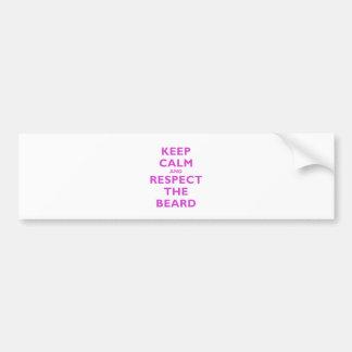 Keep Calm and Respect the Beard Bumper Sticker