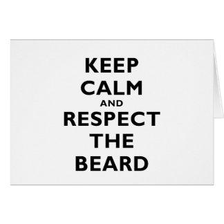 Keep Calm and Respect the Beard Card