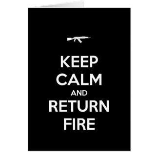 Keep Calm and Return Fire Birthday Card