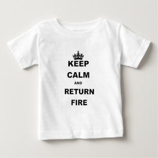 KEEP CALM AND RETURN FIRE.png Tshirts