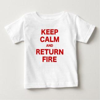 Keep Calm and Return Fire T Shirt