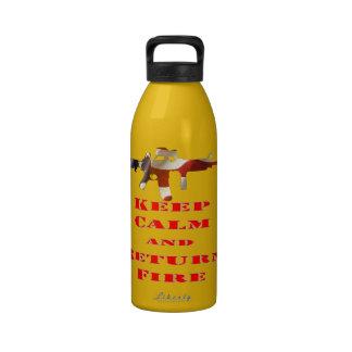 Keep Calm And Return Fire Water Bottles