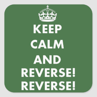 Keep Calm and Reverse Reverse Stickers