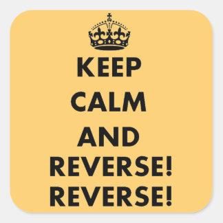 Keep Calm and Reverse Reverse Sticker