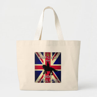 """""""Keep Calm and Ride A Fell Pony"""" Large Tote Bag"""