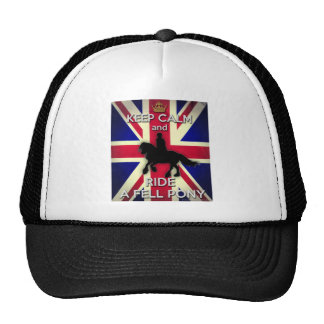 """""""Keep Calm and Ride A Fell Pony"""" Trucker Hat"""