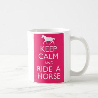 Keep Calm And Ride A Horse Coffee Mug