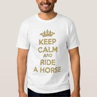 Keep Calm and Ride a Horse Tshirts