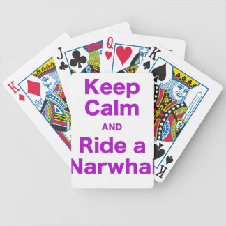 Keep Calm and Ride a Narwhal Bicycle Card Decks