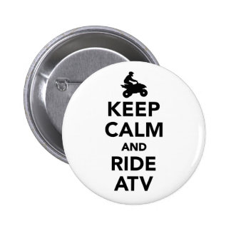 Keep calm and ride ATV Button