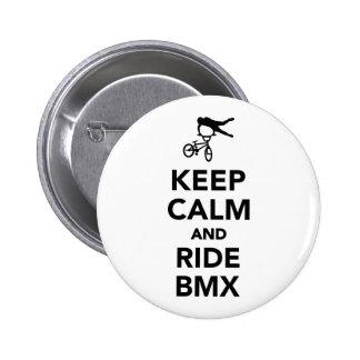 Keep calm and ride BMX Button