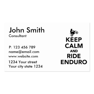 Keep calm and ride Enduro Business Card