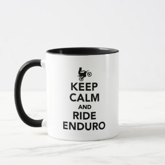 Keep calm and ride Enduro Mug