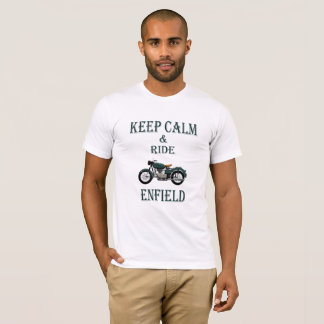 Keep Calm and ride Enfield T-Shirt