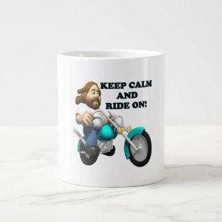 Keep Calm And Ride On 2 Giant Coffee Mug