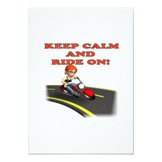 Keep Calm And Ride On 4 Card
