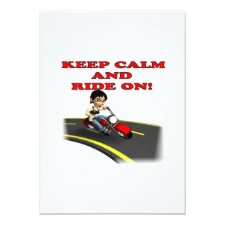 Keep Calm And Ride On 5 Card