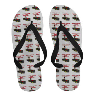 Keep Calm And Ride On 5 Flip-Flops