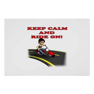 Keep Calm And Ride On 5 Posters