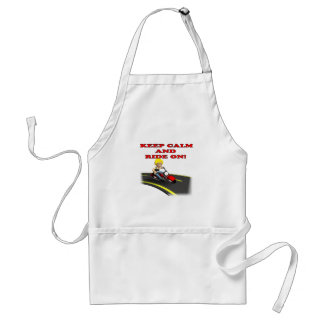 Keep Calm And Ride On 6 Adult Apron