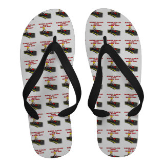 Keep Calm And Ride On 6 Flip Flops