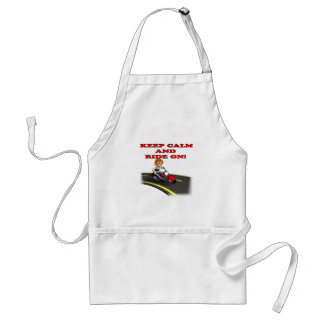 Keep Calm And Ride On 7 Adult Apron