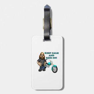 Keep Calm And Ride On Bag Tags