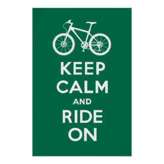 Keep Calm and Ride On - bicycle print - leaf
