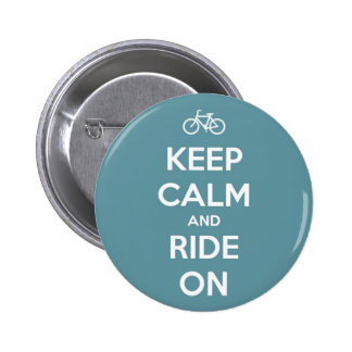Keep Calm and Ride On Blue 2 Inch Round Button