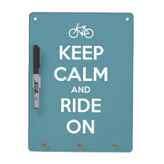 Keep Calm and Ride On Blue Dry Erase Board