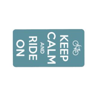 Keep Calm and Ride On Blue Label