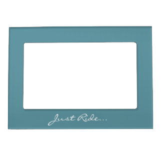 Keep Calm and Ride On Blue Magnetic Photo Frame