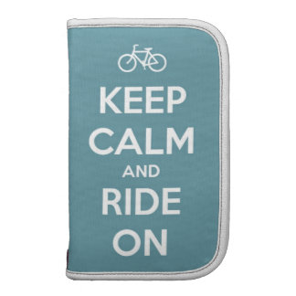Keep Calm and Ride On Blue Organizers