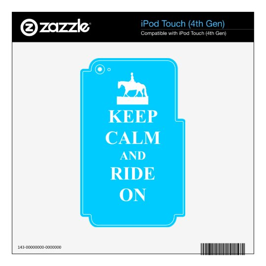 Keep calm and ride on (blue) skin for iPod touch 4G