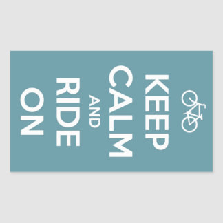 Keep Calm and Ride On Blue Stickers