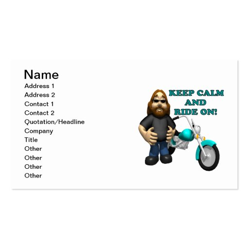 Keep Calm And Ride On Business Cards