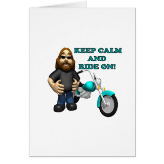 Keep Calm And Ride On Card