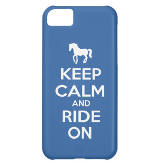 Keep Calm and Ride On iPhone 5C Cover